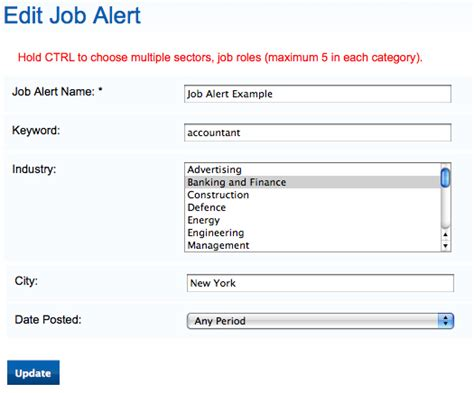 subscribe to alerts via email jobmount