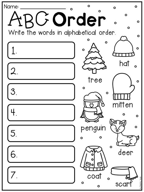 winter math  literacy worksheet pack  grade