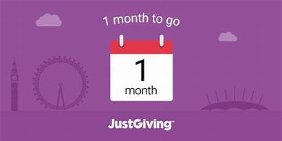Countdown Month Justgiving Gifs Down Count Fundraising