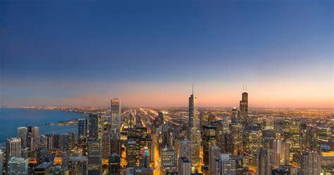 chicago evening city wallpaper  ultra hd wallpaper
