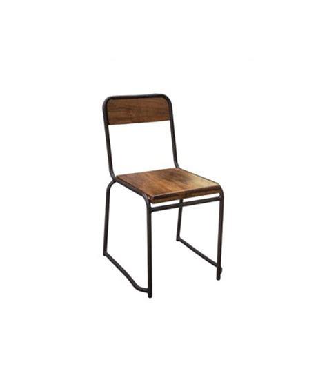 chaise métal et bois chaise industrielle bois et métal style vintage