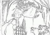 Daniel Coloring Den Lions Lion Colorear Dibujos Leones Bible Popular Truck Coloringhome Ius Tech sketch template