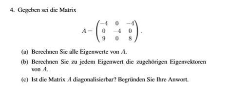 eigenwerte eigenvektoren mathelounge