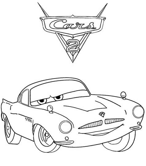 cars characters drawings cars 2 characters the queen coloring pages for kids cars