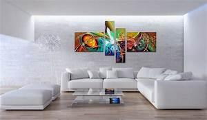 Tableau Salon Design : un souffle d 39 art pour la maison avec un tableau d co ~ Teatrodelosmanantiales.com Idées de Décoration