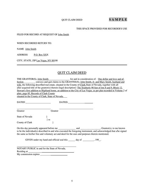 quit claim deed form nevada ten outrageous ideas