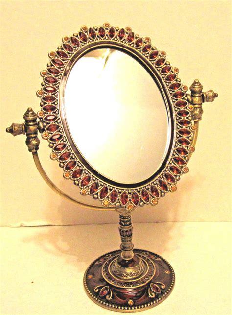 antique vanity mirror antique looking vanity tabletop mirror topaz oval