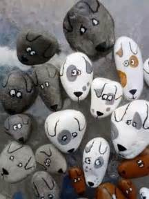 Dogs Painted On Rocks