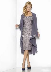 Elegant mother of the bride dresses with jacket short for Formal wedding dresses for mother of the bride