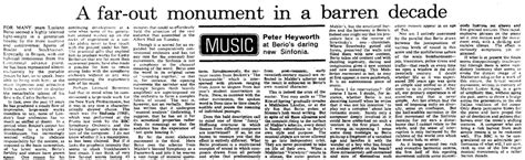 The Rest Is Noise Festival The 60s  Reviews From The