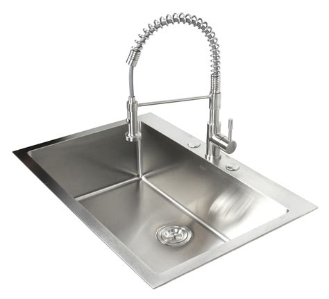 one bowl kitchen sink 33 inch top mount drop in stainless steel single bowl