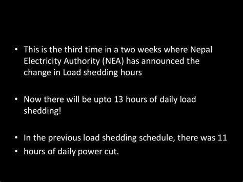 Latest Load Shedding Schedule 2072