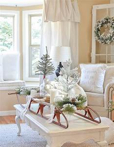 Neutral, Farmhouse, Christmas, Decor, In, The, Front, Room
