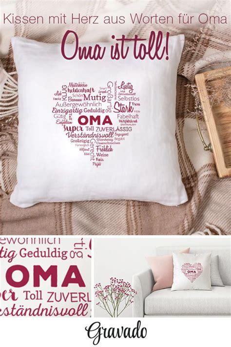 Große Kissen Für by Bedrucktes Kissen Wortwolke F 252 R Oma Oma Geschenke