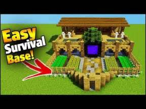 minecraft tutorial      player survival tree base survival base youtube
