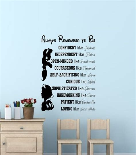 Disney Quotes For Bedroom Walls by Disney Princess Wall Quotes Disney Signs Disney Princess
