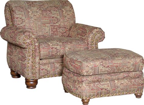 mayo 9780 traditional chair and ottoman with exposed wood
