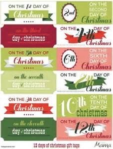 printable 12 days of christmas gift tags favething com