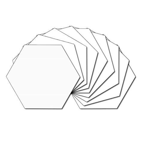 plain white hexagon fabric charm packs plain white