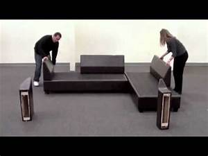 sacramento sectional sofa reversible assembly youtube With sectional sofa assembly