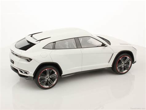 White Lamborghini Urus Side View Image