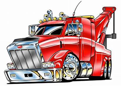 Tow Truck Clip Clipart Cartoon Trucks Kenworth