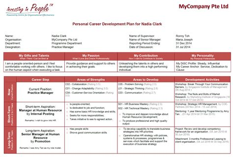 career development plan template take care of your talent or someone else will coe partners
