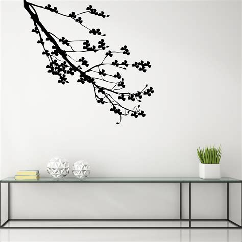 sticker branche d arbre fleuri stickers nature arbres ambiance sticker
