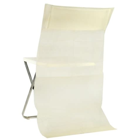 housse de chaise dossier rond housse dossier de chaise intissé ivoire les 50