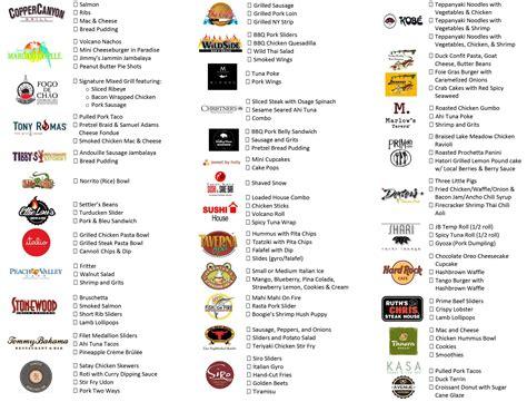 cuisine menu list the downtown food wine festival is this weekend wine