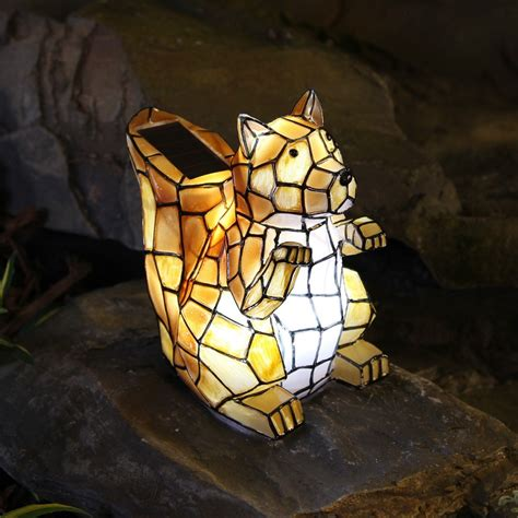 novelty solar garden lights statues