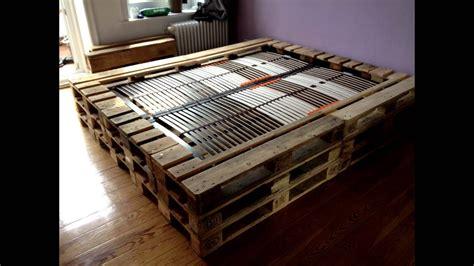 palettenbett mit lattenrost doppelbett aus europaletten