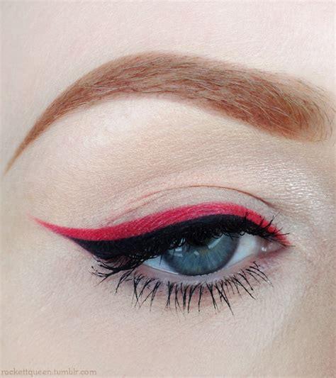red eyeliner  tumblr