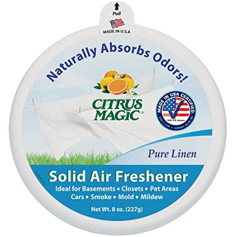 absorb odor in room citrus magic odor absorbing solid air freshener pure linen 8 ounce 6 pack ehouseholds com