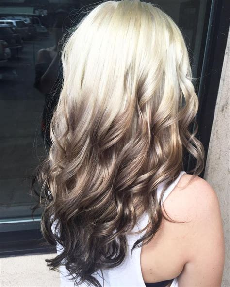 ombre hair color ideas  blond brown red