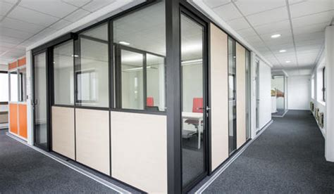brown powder coated aluminium partition panels grade interior size  rs  square feet