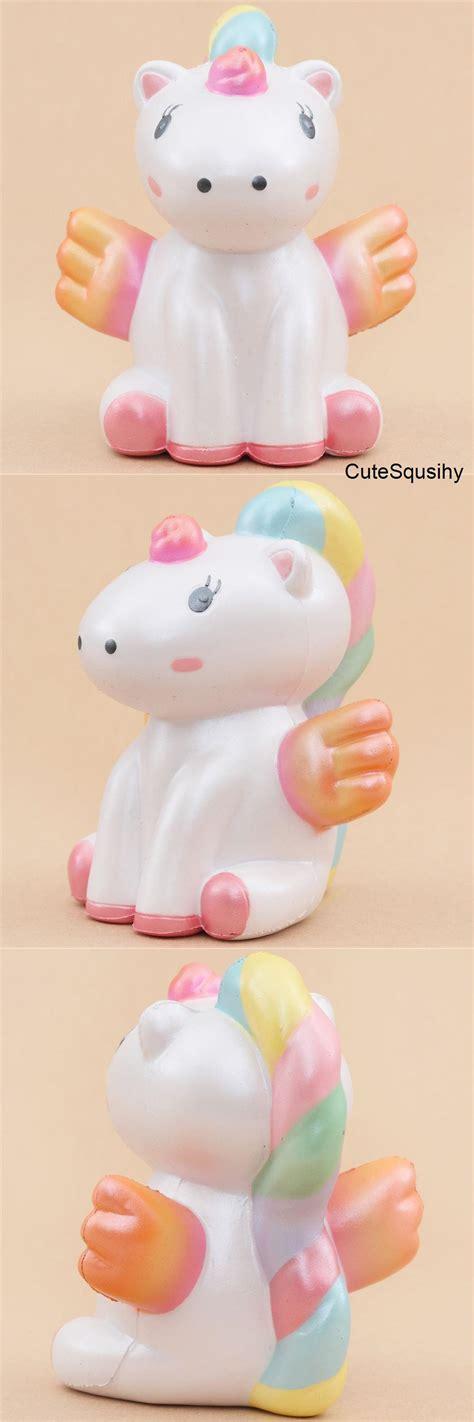 squishy kawaii parfum 233 wawaii squishy licorne blanche aux ailes orange et roses squishy toys