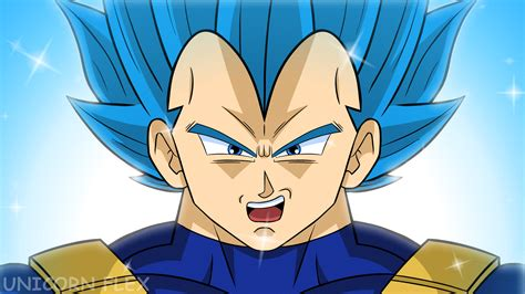 animated vegeta super saiyan blue limit break  chris
