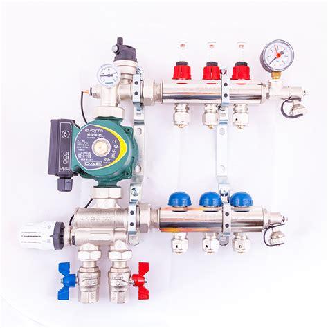 2 12 port multi zone mixing manifolds uk underfloor heating