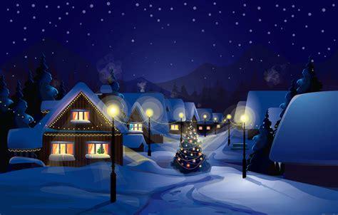 Christmas Night Wallpaper. Siehe Stadtansichten Tablette