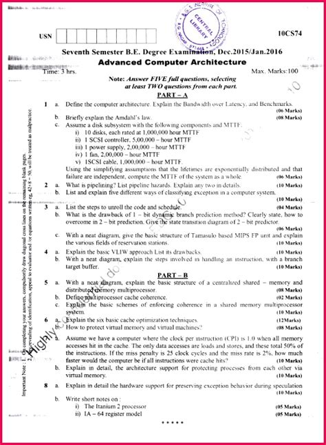 class  notes computer science solved  paper