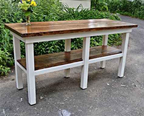 Heir And Space An Antique Work Bench Turned Kitchen Island