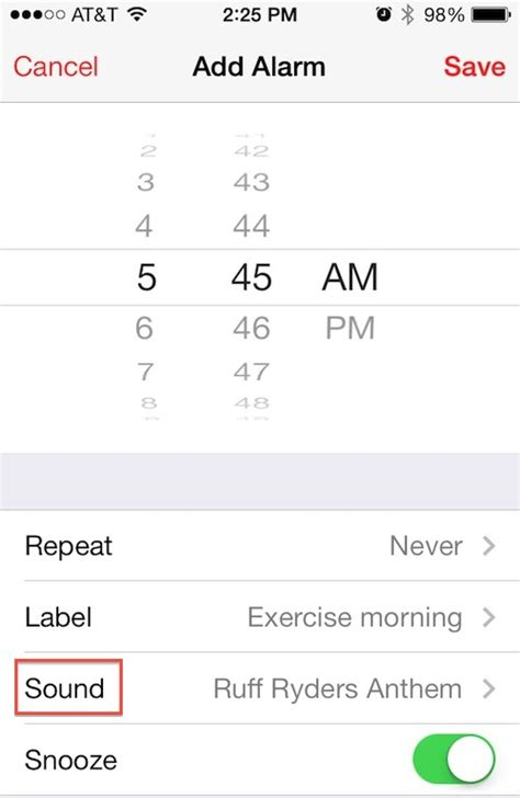 alarm on iphone how to set song as iphone alarm works across ios 7 devices