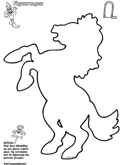 Figuurzagen Kleurplaten by Paard Figuurzagen Knutselpagina Nl Knutselen