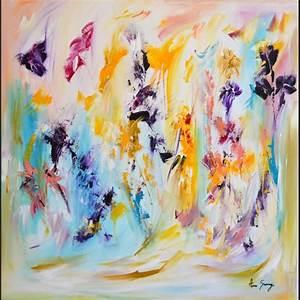 tableau grand format abstrait stunning tableaux abstraits With affiche chambre bébé avec huile fleur de tiaré