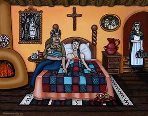 La Partera Or The Midwife Painting by Victoria De Almeida