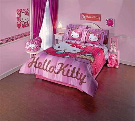 chambre fille hello décoration chambre fille linge lit thème hello 25