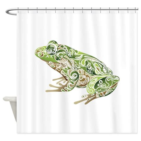 frog shower curtain filligree frog shower curtain by underthesea2