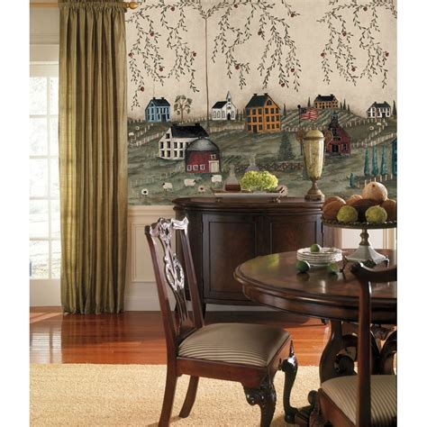 Country Wall Mural  Primitive Wallpaper Accent Decor. Design Small Living Room. Indian Live Video Chat Room. Decor For Small Living Room. What Color To Paint My Living Room. Living Room Sectional Ideas. Sea Inspired Living Room. Grey Sofas In Living Room. Brown Wall Living Room Ideas