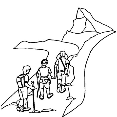 coloriage montagne les beaux dessins de nature 224